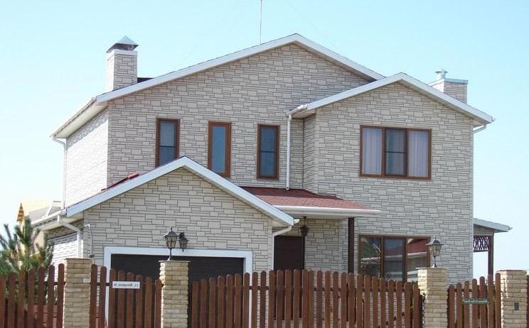 Фасад дома из термопанелей